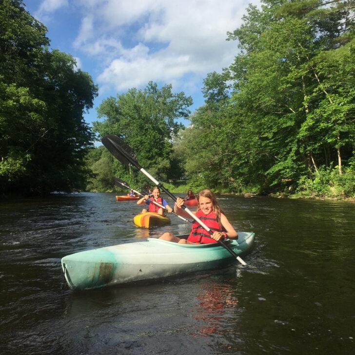 Kayaking on the Adirondack Discovery trip