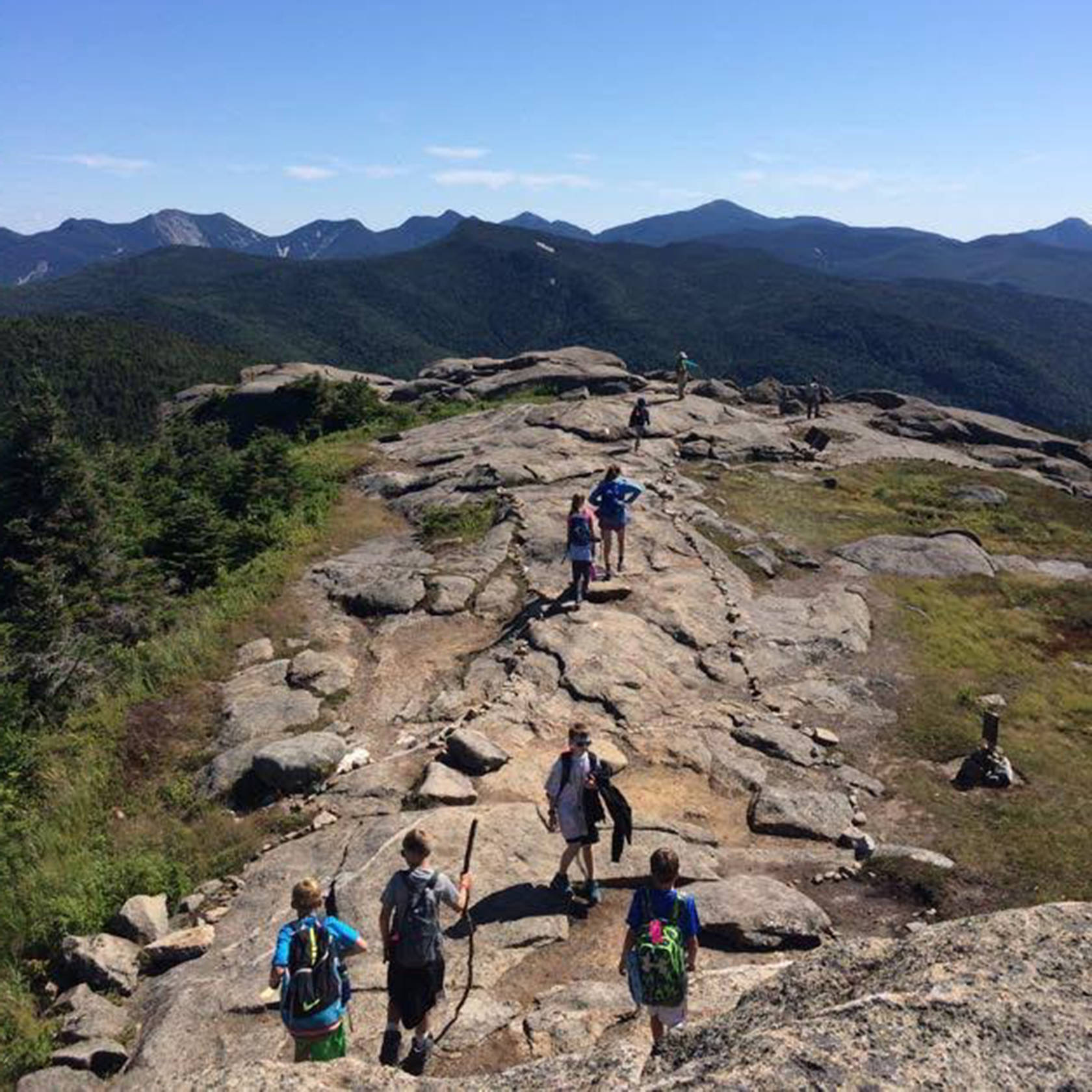 Hiking on the Adirondack Discovery trip