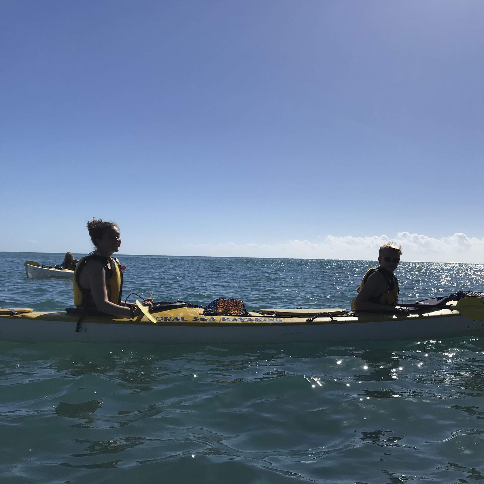 Sea kayaking on the Australia trip