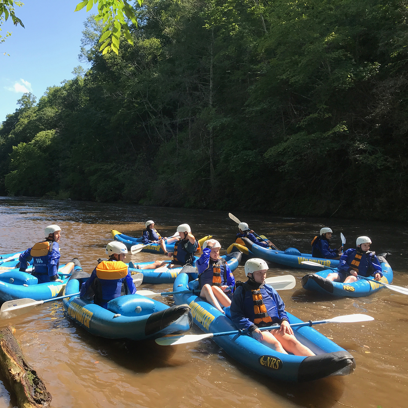 Inflatable whitewater kayaking on the Carolina Blue: Crags to Coast trip