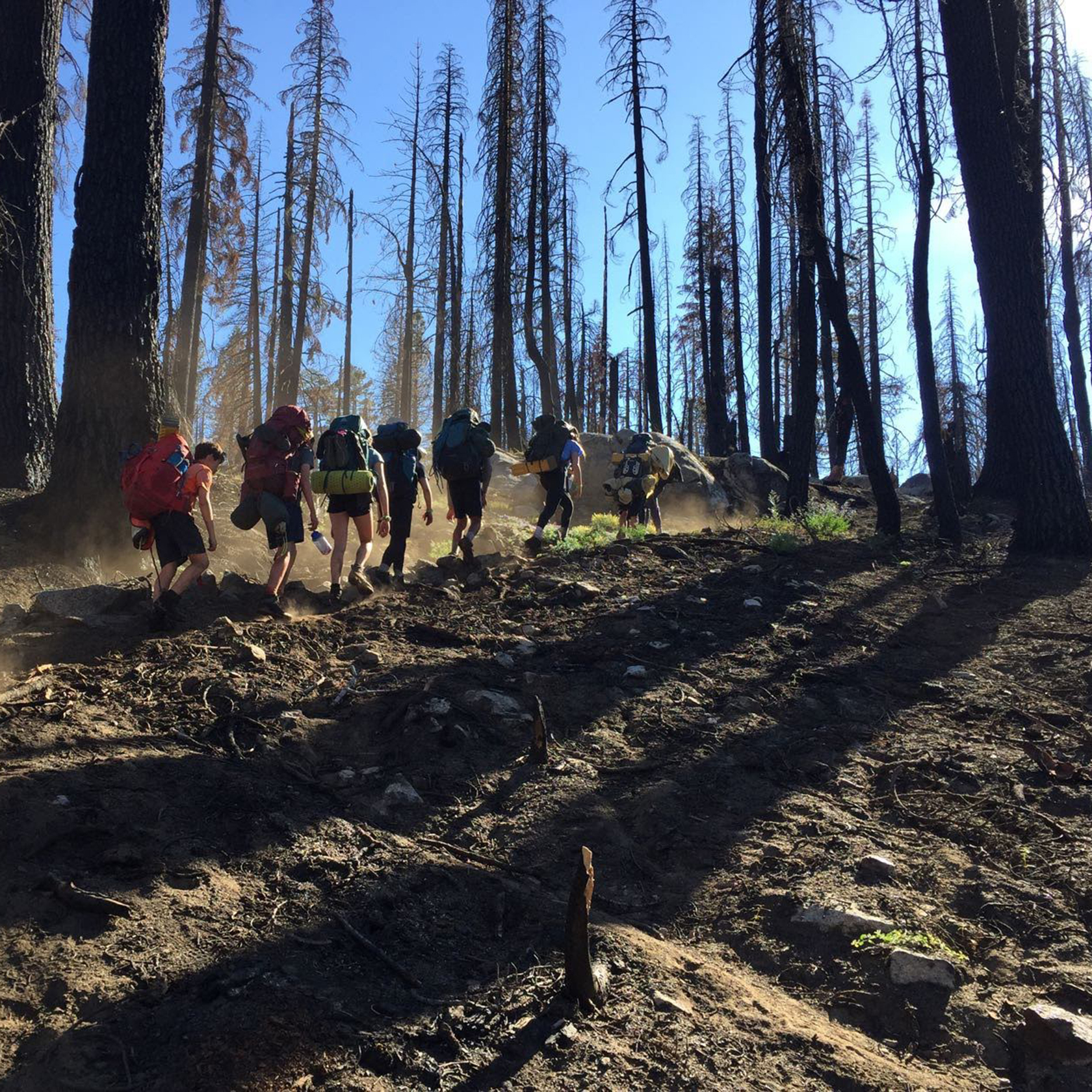 Backpacking on the California Explorer trip