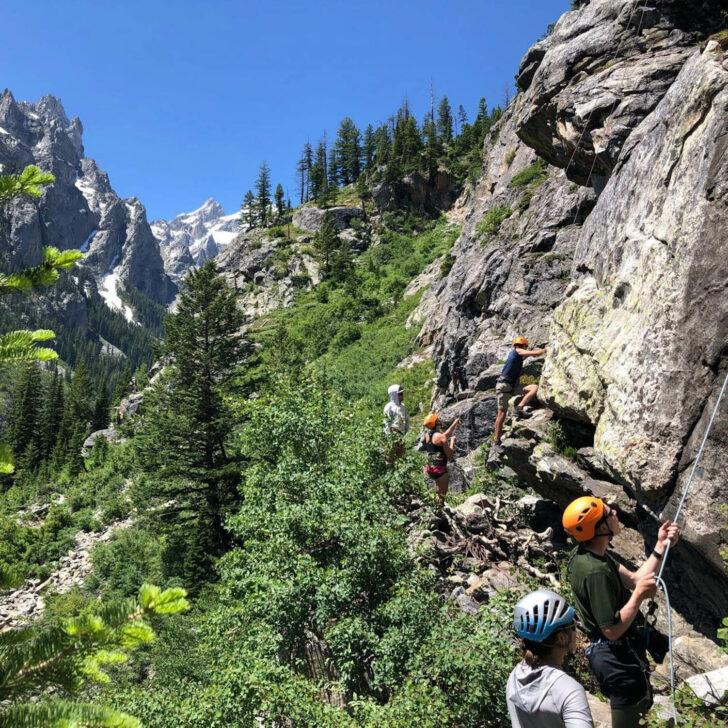 Jackson Hole High Trails rock climbing