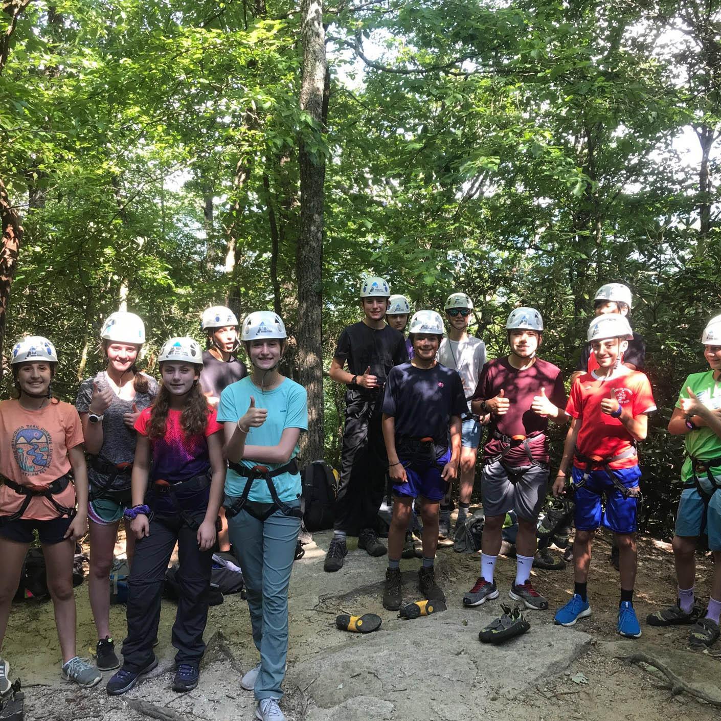 Carolina Blue rock climbing
