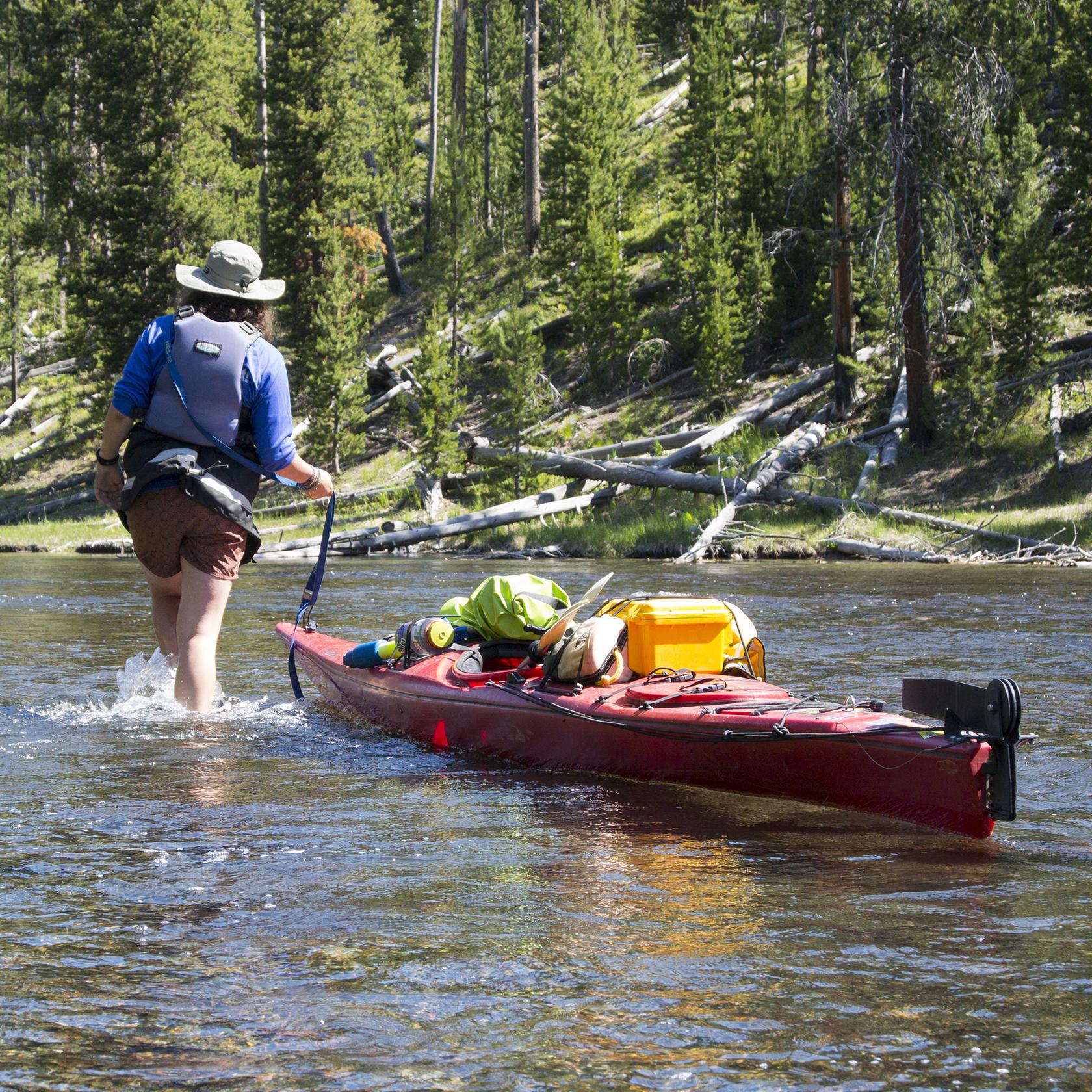 Kayaking on the Jackson Hole High Trails trip