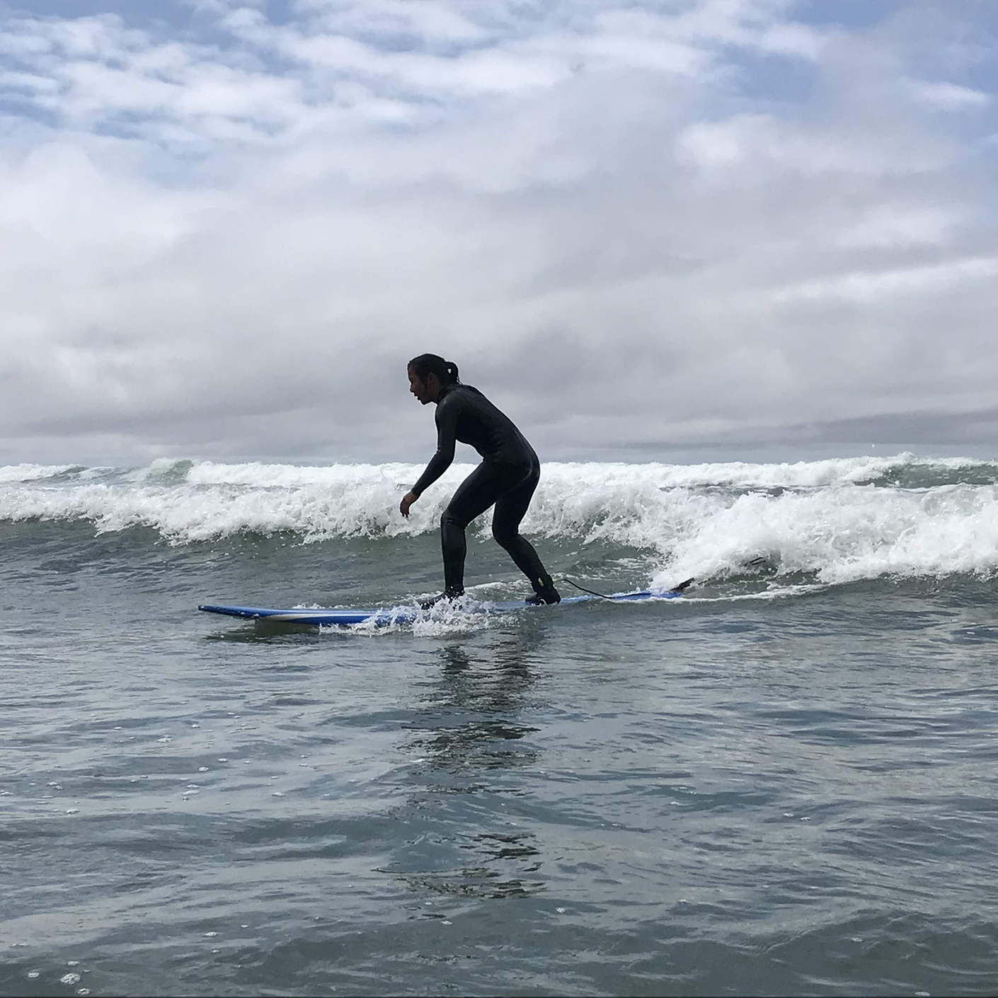 Surfing on the Pacific Northwest Explorer trip