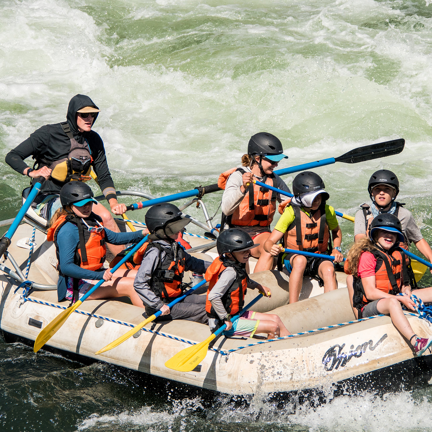 Whitewater rafting on the Pacific Northwest Explorer trip