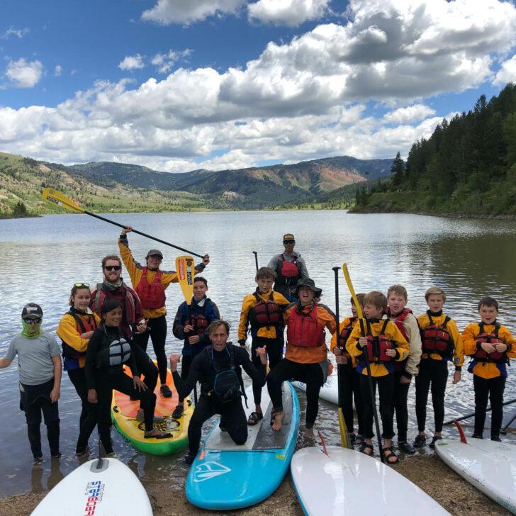 Yellowstone Teton Discovery stand up paddle boarding