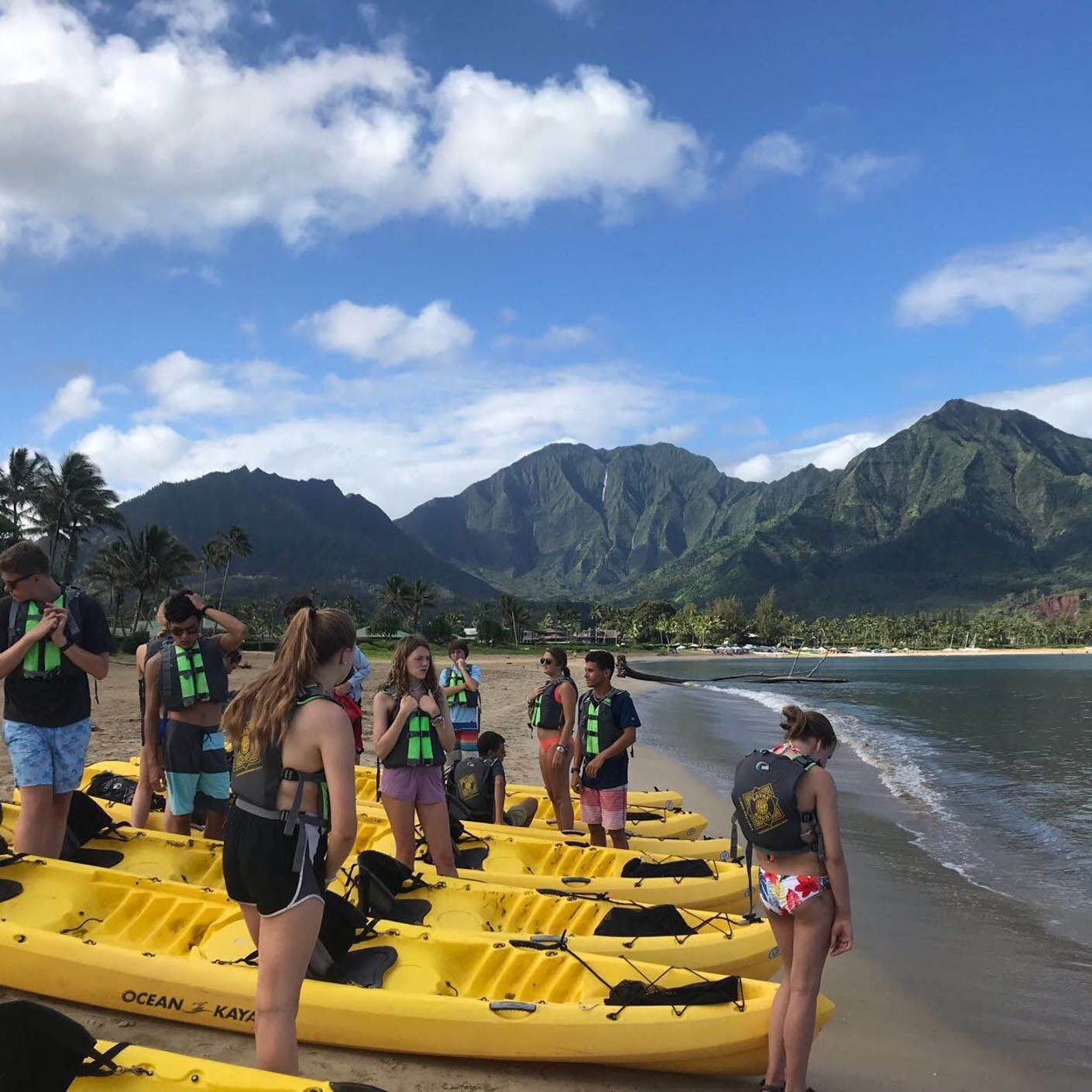 Hawaiian Islands sea kayaking