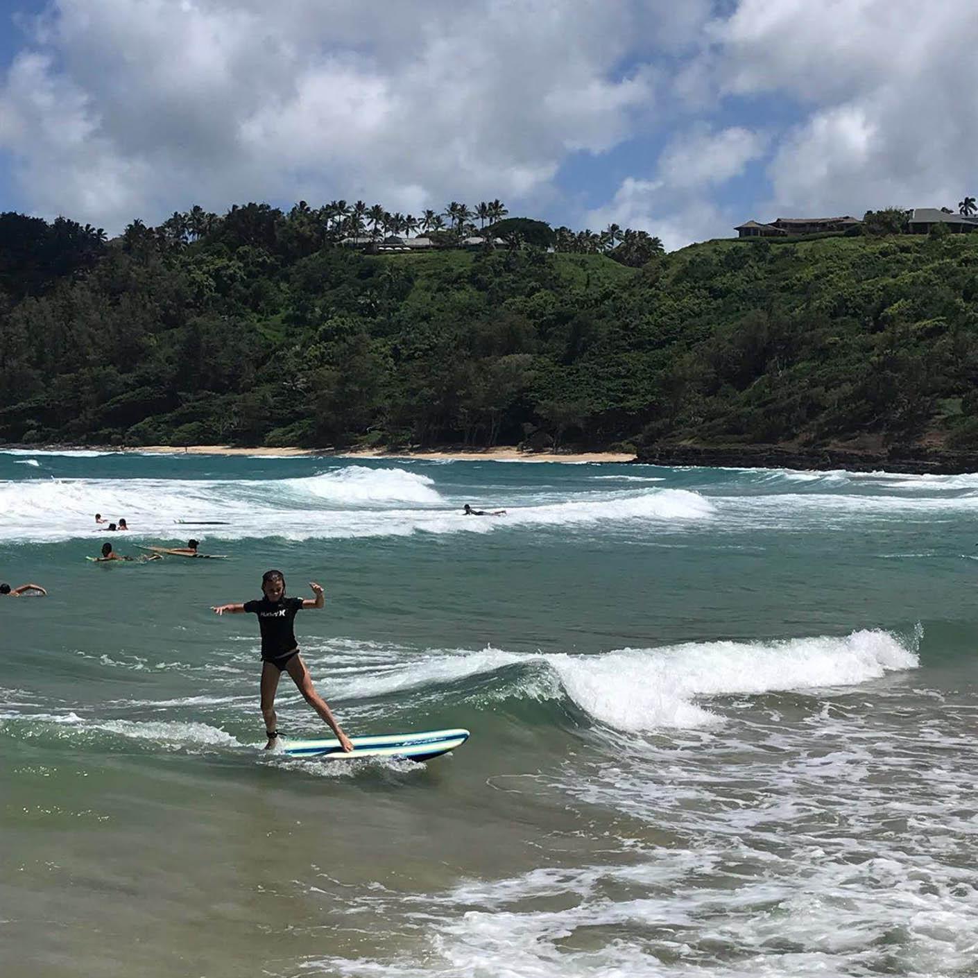 Hawaiian Islands surfing