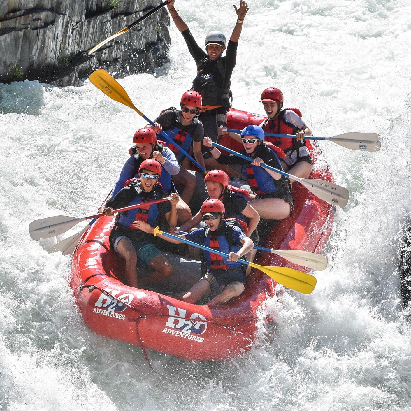 High Sierra whitewater rafting