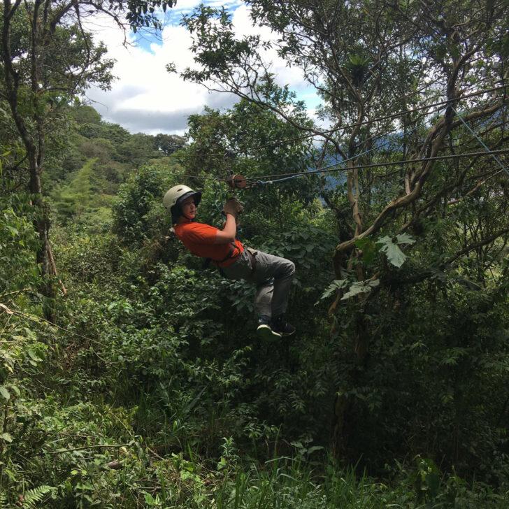 Ecuador Galapagos ziplining