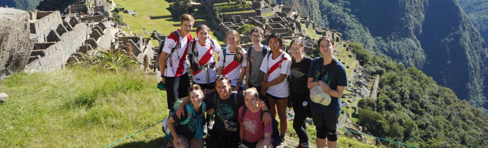 Peru Service group photo at Machu Picchu