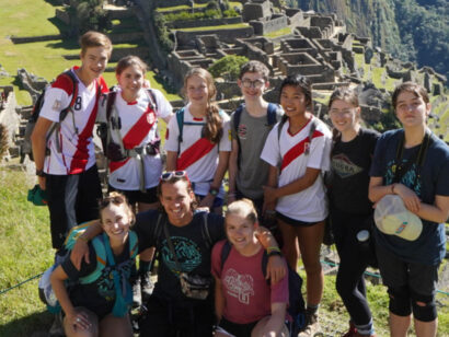 Peru Service group photo at Machu Picchu