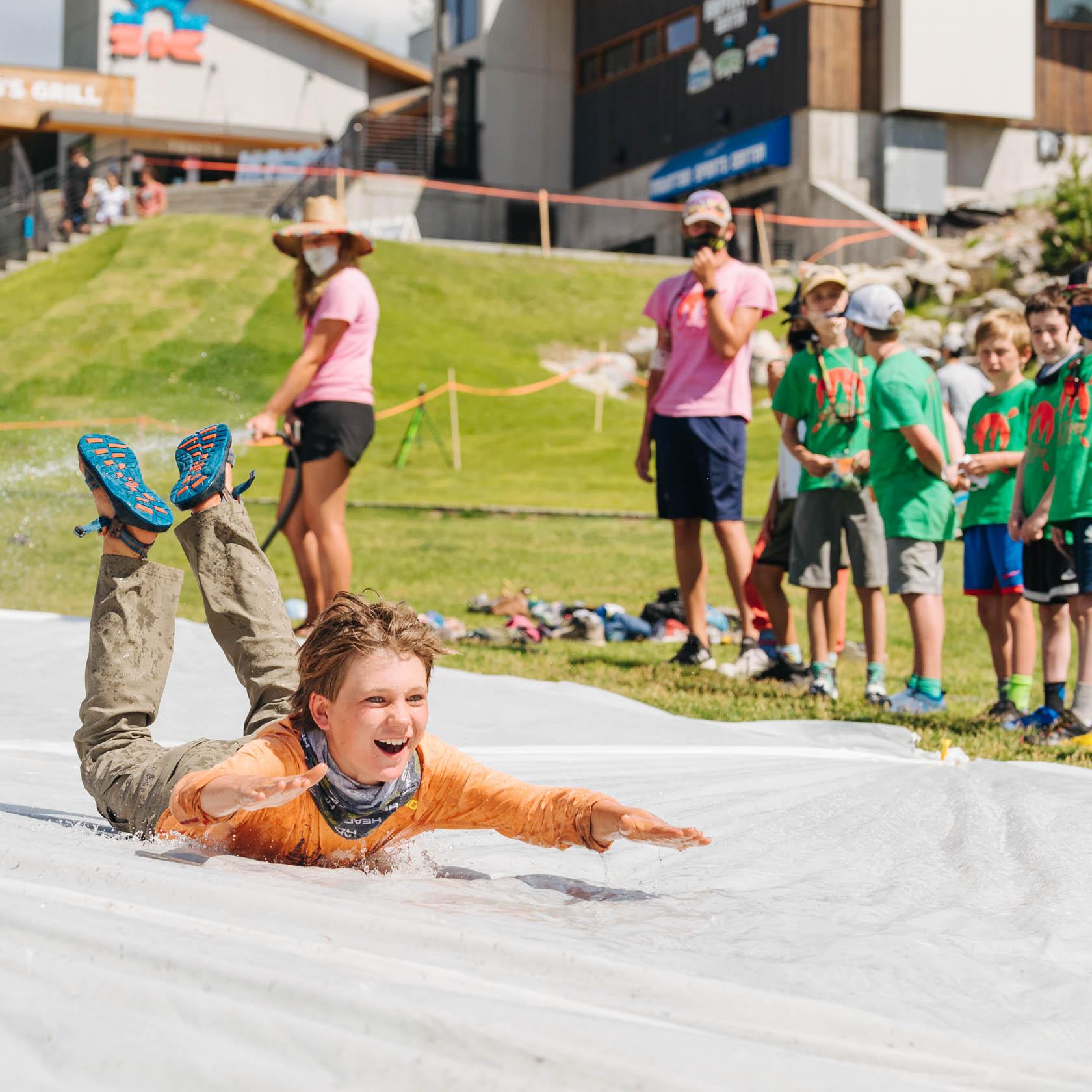 Jackson Hole Basecamp slip-n-slide