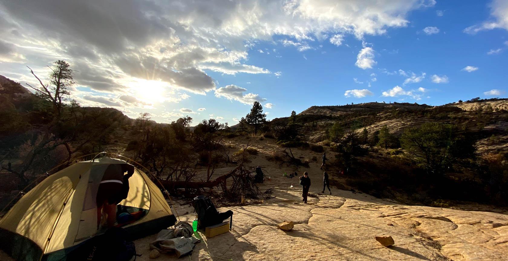 Tent in Utah