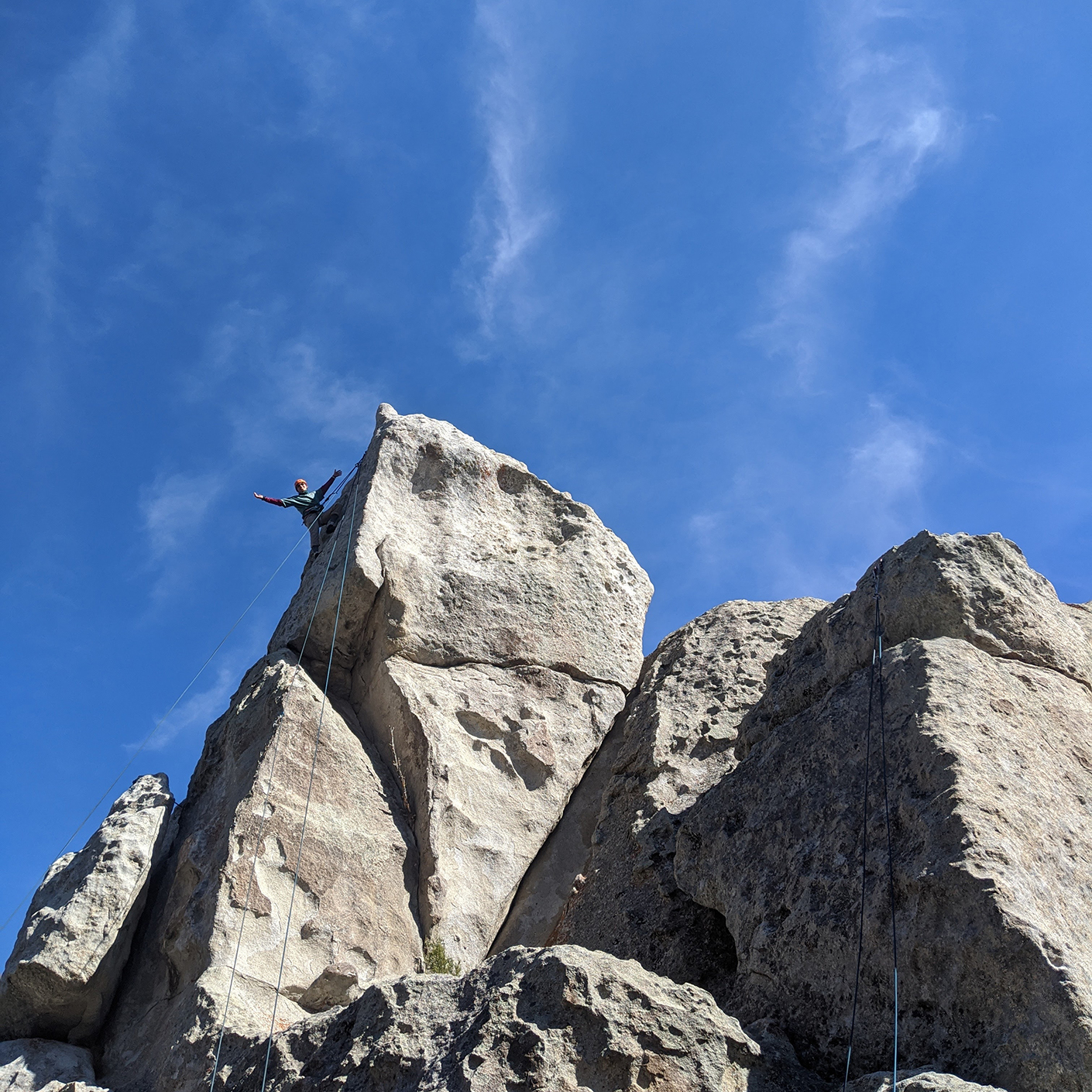 Student rock climbing in City of Rocks