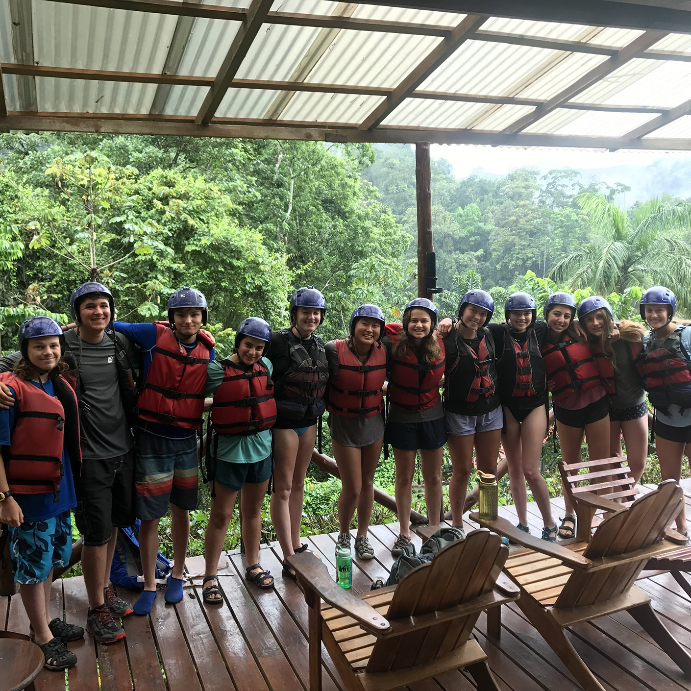 Whitewater rafting on the Costa Rica Pura Vida trip